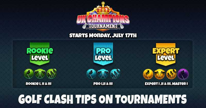 golf clash tips on tournaments